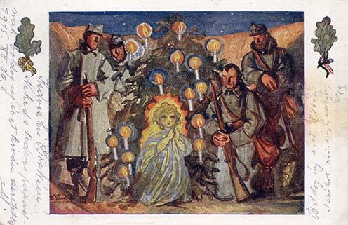 A Galíciából küldött karácsonyi üdvözlőlapok