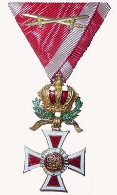 Croce di Cavaliere dell'Ordine austriaco imperiale di Leopoldo, conferito anche al colonnello Bolzano