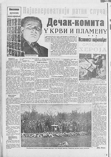 Dragoljub Jeličić története az 1939. április 23-án megjelent Vreme jugoszláv lapban