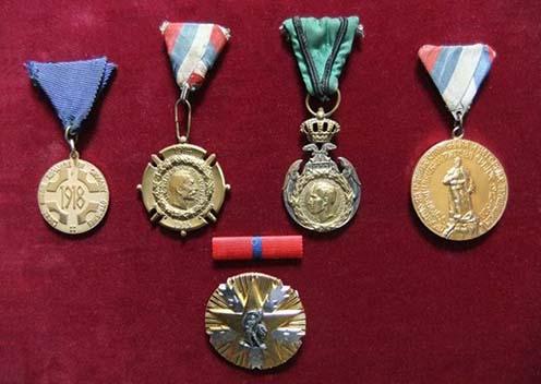 Momčilo Gavrić első világháborús kitüntetései