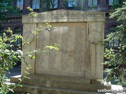 A tanárok emlékműve Budapesten, a Trefort-kertben