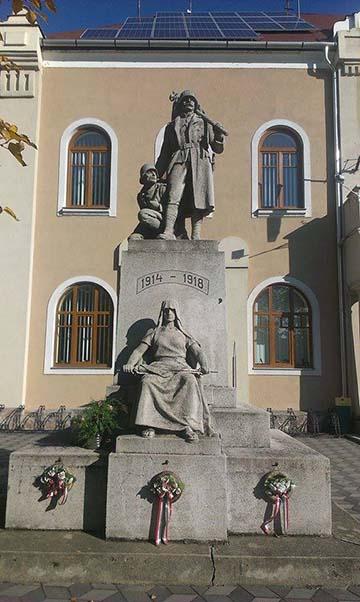 A mezőkeresztesi első világháborús emlékmű