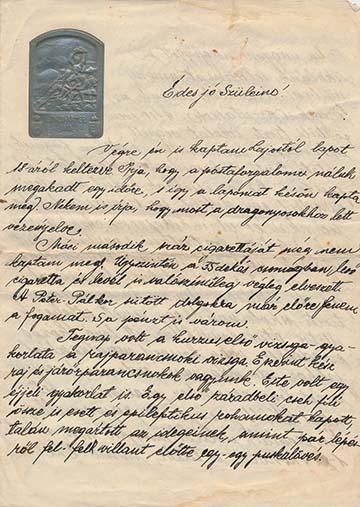 dukai Takách István levele szüleinek