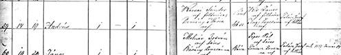 Karsai András születési bejegyzése az egyházi anyakönyvben