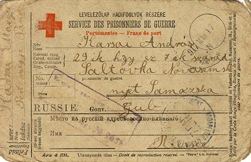 Lánya, Karsai Margit apjához írott levelének elő- és hátlapja
