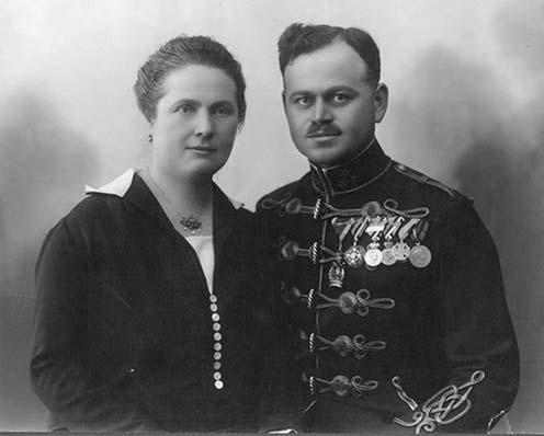 Kövendy Gyula 1925-ben feleségével, komjáthi Horkovics Arankával