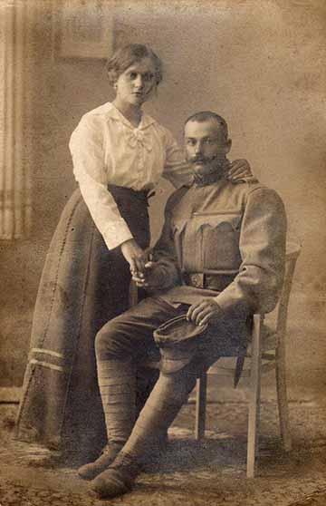 A Mészáros Kiss házaspár 1916-ban