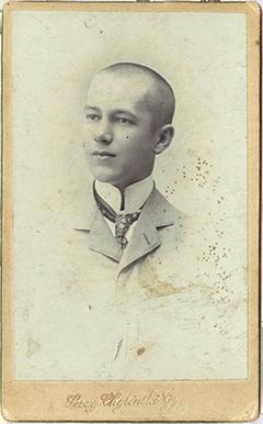 Miklóssy Béla diákkori képe
