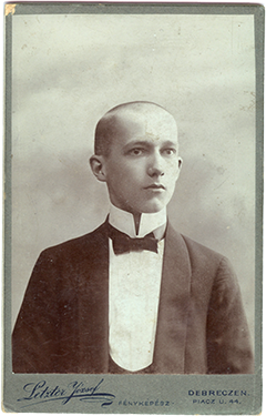 Miklóssy Sándor diákkori képe