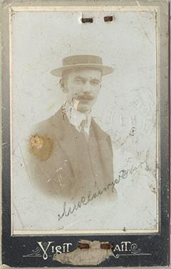 Miklóssy Dezső fényképe 1910 körül