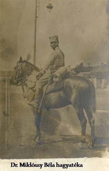 Miklóssy Béla a bevonuláskor