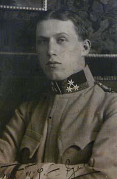 Miklóssy Gyula katonaképe 1915. március 9-i keltezéssel
