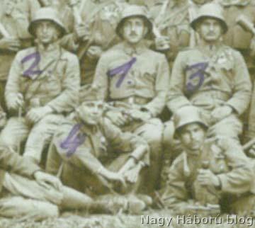 A portréja és a kitüntetései alapján Kókay László valószínűleg felcserélte a jelölést és a 3 számmal jelölt katona Mráz Pál