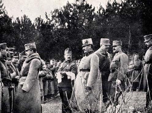 József főherceg a 17-eseknél 1915 őszén