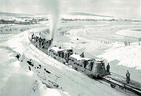 Cseh páncélvonat Irkutszk közelében 1918-ban