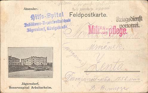 Novák István Jägerndorfból  írt tábori lapjai
