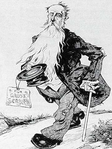 1912-es német karikatúra Pašićról