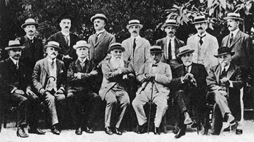A korfui nyilatkozat aláírói (Pašić középen ül)