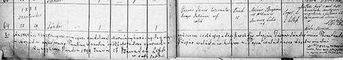 A pándi református egyház születési anyakönyvének bejegyzése