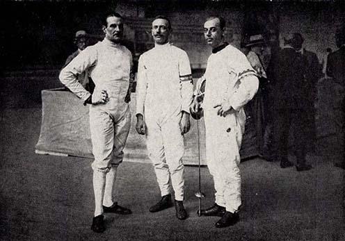 Schenker, Berti és Pósta az 1924-es párizsi olimpián