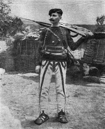 Tankosić albán felkelőként, az első Balkán-háborút megelőzően