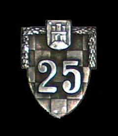 A m. kir. zágrábi 25. honvéd gyalogezred (kr. ug. 25. domobranska pješačka pukovnija) jelvénye