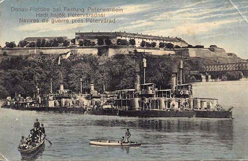 A péterváradi erőd 1914-ben