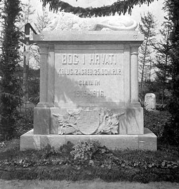 A m. kir. zágrábi 25. honvéd gyalogezred emlékműve Kolomeánál (ma: Kolimija, Ukrajna)