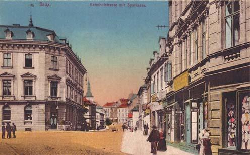 A brüxi vasútállomás felé vezető utca, amerre Jankó Zsigmond is járt