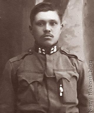 Balázs Károly tizedes a Volhíniában készült fotón