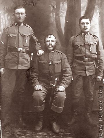 Fata Bertalan, Szabó Ferenc és Balázs Károly Kolmban készült fényképe