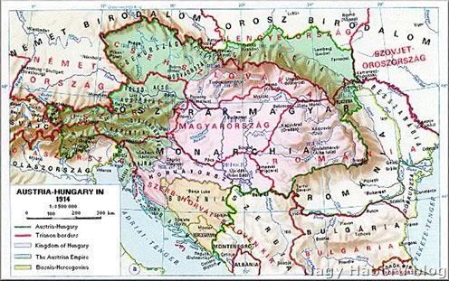 Az Osztrák-Magyar Monarchia és a trianoni határok
