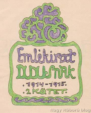A napló kézzel rajzolt díszes címlapja