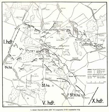 Harcok Lublin környékén 1914. augusztus 27. – szeptember 8. között