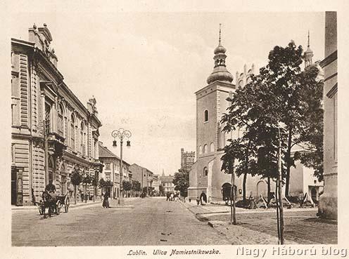 A Namiestnikowsa (ma: Narutowicza) utca Lublinban