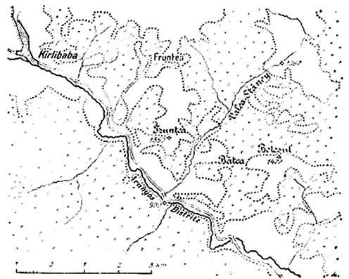 A térség vázlatos térképe