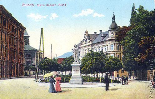 Villach korabeli képeslapon