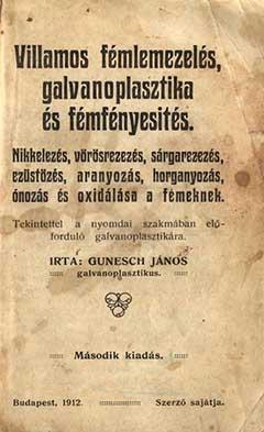 Gunesch János könyvének a borítója