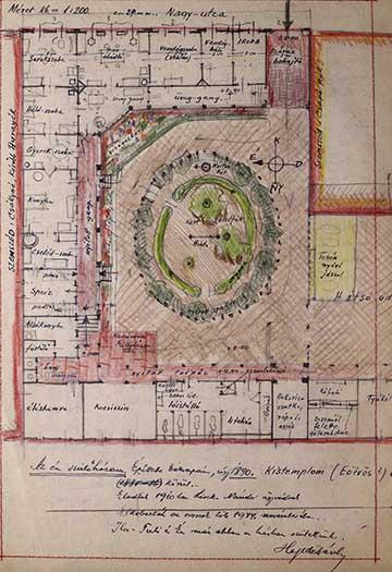 Alaposan dokumentált szülői ház Mezőberényben, méretaránnyal, szobabeosztással, szomszédok neveivel, feljegyzéssel a ház további sorsáról: értékes helytörténeti és építészettörténeti forrás