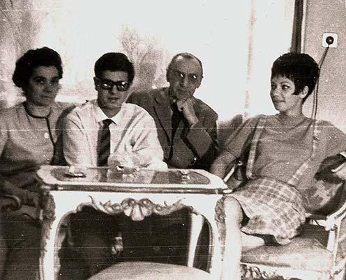 A Hegedős-család 1964-ben: Hegedős Károlyné Adler-Stoffa Erzsébet, Hegedős Mihály, Hegedős Károly, Hegedős Piroska