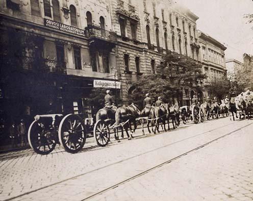 Az Üllői út Pesten, 1914 szeptemberében (Hegedős Károly felvétele az emlékiratból)