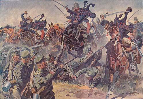 Az 1914 augusztusában lezajlott kraśniki csatában az Osztrák–Magyar Monarchia első győzelmét aratta. A huszárság ekkor még hagyományos, frontális rohamokat intézett az ellenséges állások felé