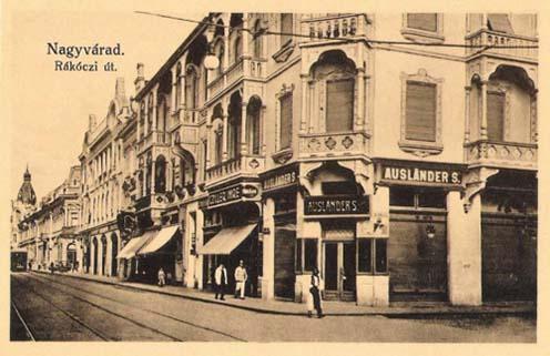 Az Ausländer üzlet Nagyváradon 1912-ben