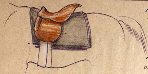 Nyergelés szakszerűen: rajz az emlékiratból