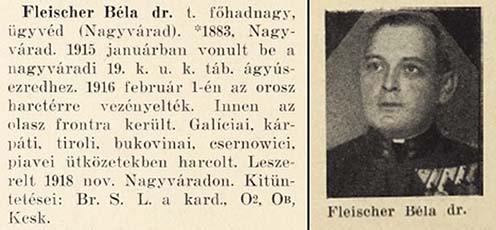 Fleischer Béla hadiútja