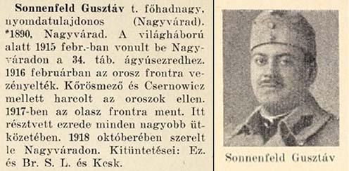 Sonnenfeld Gusztáv hadiútja