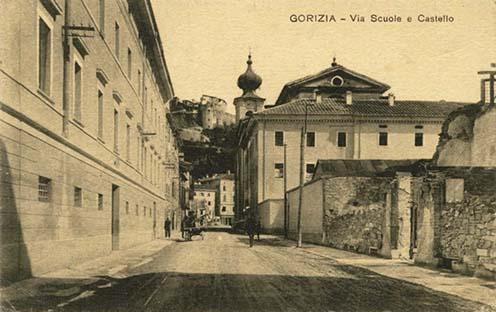 """Gorizia, """"Villa Scuole e Castello"""" 1920 körül"""