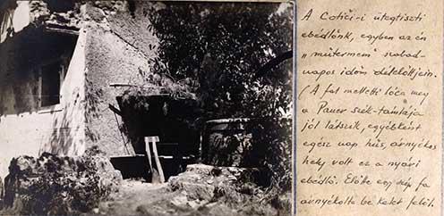 A Cotiči ütegtiszti ebédlő fényképe az emlékiratból