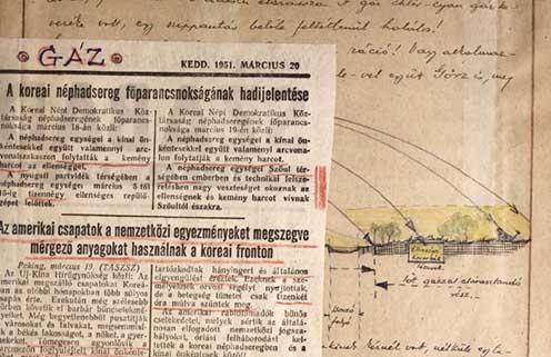 Hegedős Károlynak életre szóló lelki sokkot okozott a gáztámadás. Egy későbbi, a koreai háborúban történt gáztámadásról szóló újságcikket bekötött emlékiratának lapjai közé