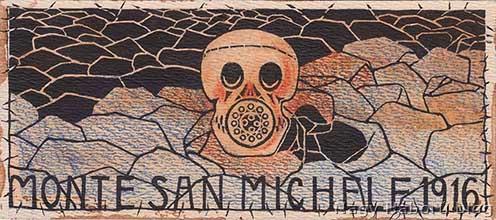 Néhány éve árverésen bukkant fel ez a rajz, amely szinte bizonyosan Hegedős Károly Harctéri vázlataiból származó alkotás